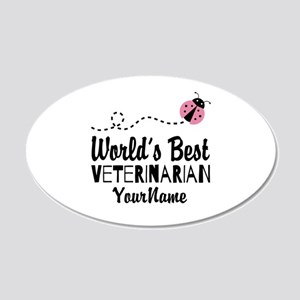 World's Best Veterinarian 20x12 Oval Wall Decal