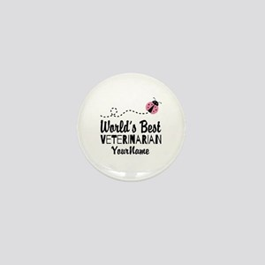 World's Best Veterinarian Mini Button
