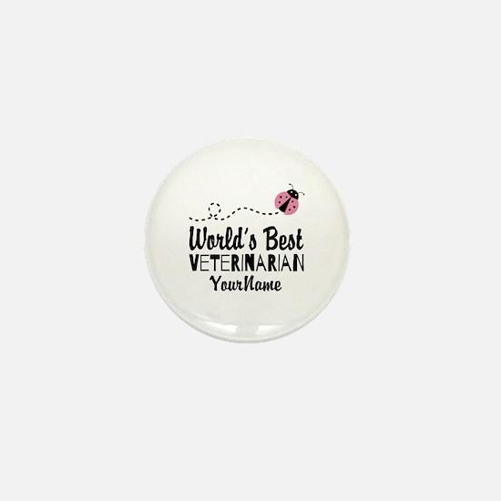 World's Best Veterinarian Mini Button