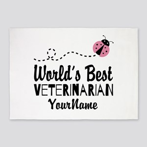 World's Best Veterinarian 5'x7'Area Rug