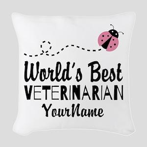 World's Best Veterinarian Woven Throw Pillow