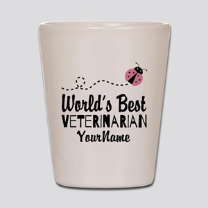 World's Best Veterinarian Shot Glass