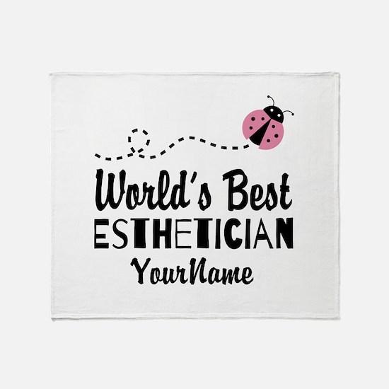 World's Best Esthetician Throw Blanket
