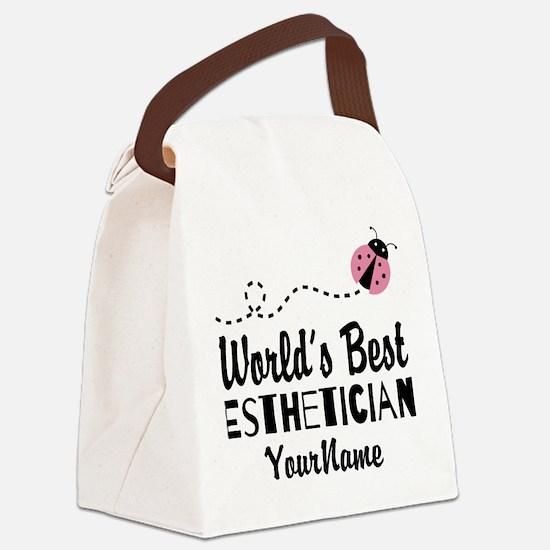 World's Best Esthetician Canvas Lunch Bag