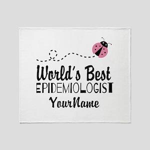 World's Best Epidemiologist Throw Blanket