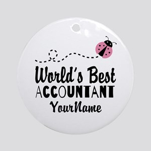 World's Best Accountant Ornament (Round)