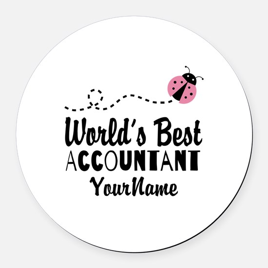 World's Best Accountant Round Car Magnet