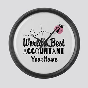 World's Best Accountant Large Wall Clock