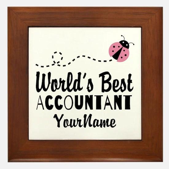 World's Best Accountant Framed Tile