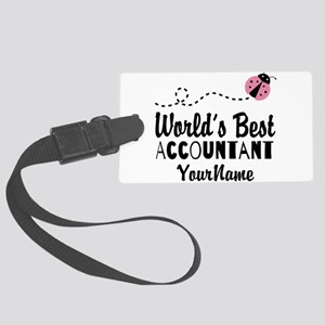 World's Best Accountant Large Luggage Tag