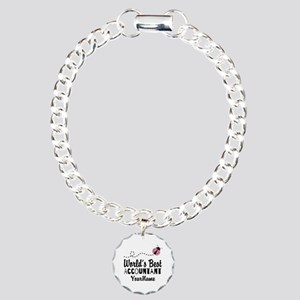 World's Best Accountant Charm Bracelet, One Charm