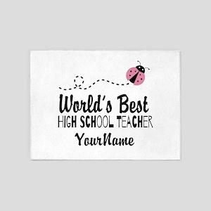 World's Best High School Teacher 5'x7'Area Rug