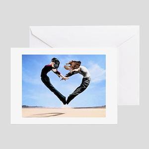 Dachshund Love Heart Greeting Card