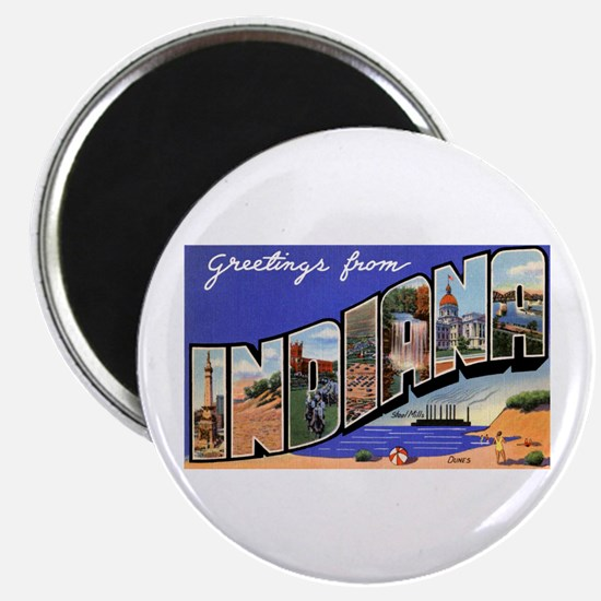 Indiana Greetings Magnet