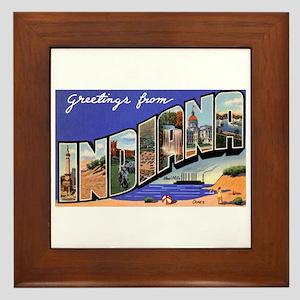 Indiana Greetings Framed Tile