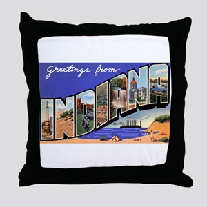 Indiana Greetings Throw Pillow