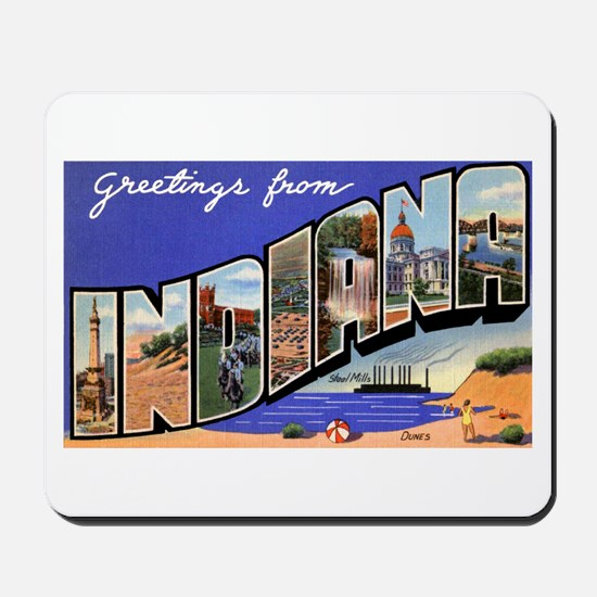 Indiana Greetings Mousepad
