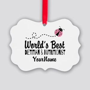 World's Best Dietitian Picture Ornament