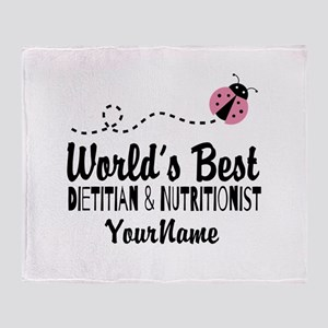 World's Best Dietitian Throw Blanket