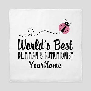 World's Best Dietitian Queen Duvet