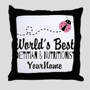 World's Best Dietitian Throw Pillow