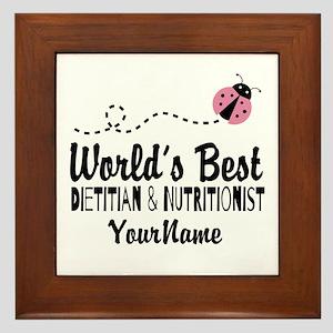 World's Best Dietitian Framed Tile