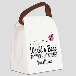 World's Best Dietitian Canvas Lunch Bag