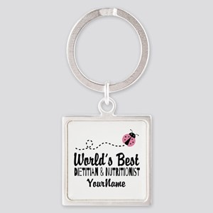 World's Best Dietitian Square Keychain