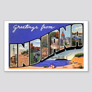 Indiana Greetings Rectangle Sticker