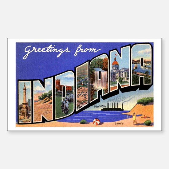 Indiana Greetings Rectangle Decal