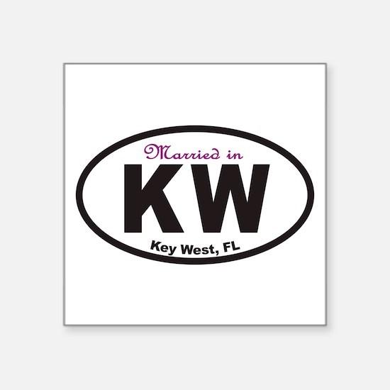 KeyWestovals2010cpmarried Sticker