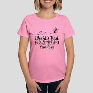 World's Best Massage Therapis Women's Dark T-Shirt