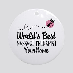 World's Best Massage Therapist Ornament (Round)