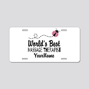 World's Best Massage Therap Aluminum License Plate