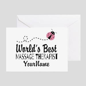 World's Best Massage Therapist Greeting Card