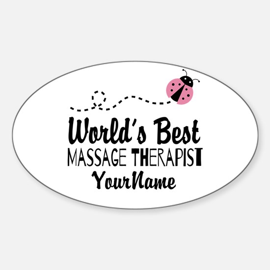 World's Best Massage Therapist Sticker (Oval)