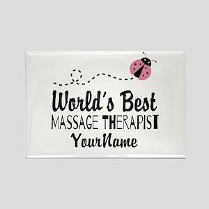 World's Best Massage Therapist Rectangle Magnet
