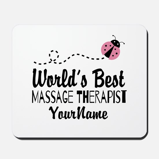 World's Best Massage Therapist Mousepad