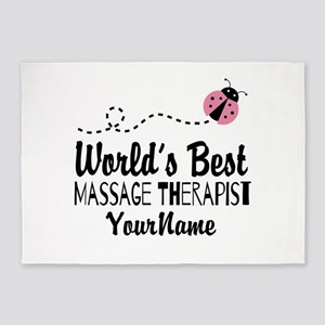 World's Best Massage Therapist 5'x7'Area Rug