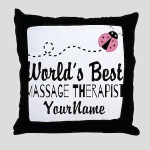 World's Best Massage Therapist Throw Pillow