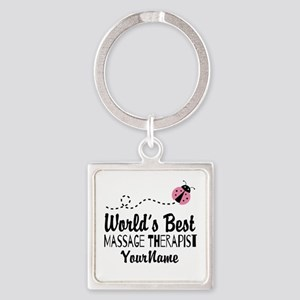 World's Best Massage Therapist Square Keychain