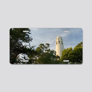 coit tower trees Aluminum License Plate