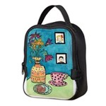 Tea and Cookie Neoprene Lunch Bag