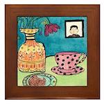 Tea and Cookie Framed Tile