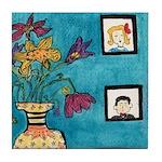 Tea and Cookie Tile Coaster