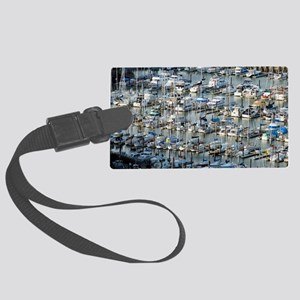 san francisco marina Large Luggage Tag