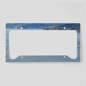 Alcatraz Island aerial view License Plate Holder
