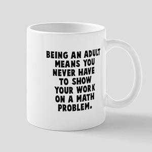 Math Problem Show Work Mug