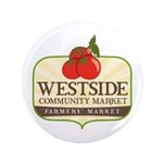 "Westside Community Market Logo 3.5"" Button"