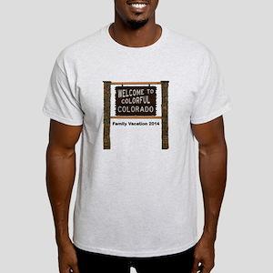 Customizable Colorful Colorado Sign Light T-Shirt